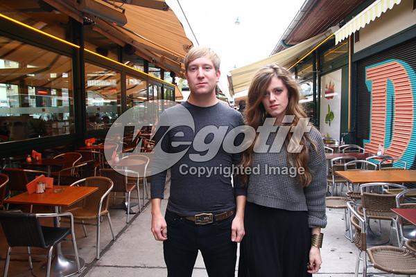 Sara Jackson-Holman with Boyfriend Skyler Norwood 30-OCT-2013 @  Naschmarkt, Vienna, Austria © Thomas Zeidler